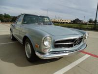 This 280 SL has the rebuilt 2.8L Inline 6 cylinder,