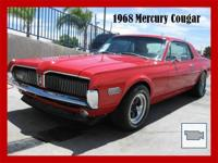 1968 Mercury Cougar in XR-7 trim. Red hot gloss