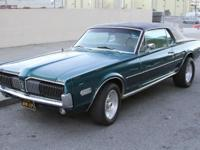 This is an awesome 1968 Mercury Cougar. Runs absolutely