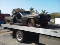 "1968 Mustang convertible task car. Was a ""T"" code 6"
