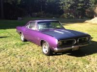 1968 Barracuda coupe (notchback). Original 225 Slant 6,