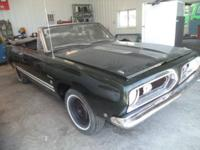 1968 Plymouth Barracuda Formula S Convertible ..One of