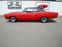 Stk#054 1968 Plymouth Roadrunner Exterior: Red paint is