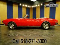 1968 Pontiac Firebird Convertible in stunning red! We