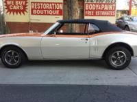 1968 Pontiac Firebird convertible with a 350ci V8