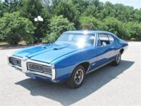 This original D Code Alpine blue 1968 Pontiac GTO is a