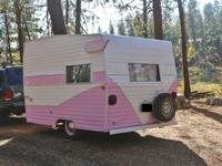 1968 Shasta Vintage Travel Trailer.The bed takes up the