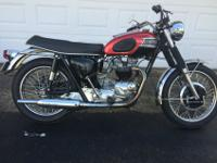 1968 Triumph Bonneville T120R in excellent condition.