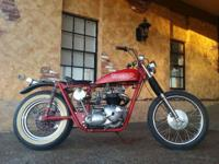 COOL 1968 TRIUMPH TR6R TROPHY BOBBER! MATCHING NUMBERS