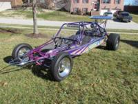Custom VW dune buggy with 2335cc VW engine that is