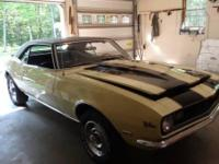 1968 Chevy Camaro for sale (PA) - $69,995. BROUGHT BACK
