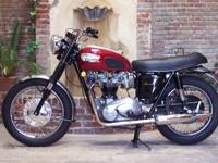 Beautiful 1968 Triumph Bonneville with matching