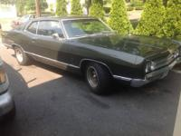 This is a 69 Ford Galaxie 500 fastback with 76,359