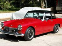 1969 Austin Healey Sprite Mark IV, Tartan Red, VIN