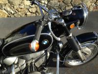 VINTAGE 1969 BMW R60/2 US model 2 cylinder motorcycle,