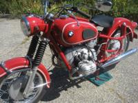 MAGNIFICENTLY RESTORED 1969 R60US IN GRENADA RED. THE