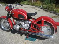 A BEAUTIFULLY RESTORED 1969 R60US IN GRENADA RED. THE