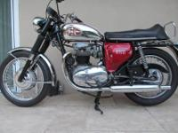 It has been lightly ridden and always garaged. This BSA