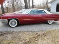 1969 Cadillac DeVille Convertible ..Crimson Red Paint