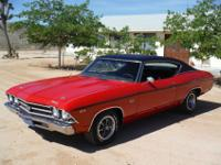 1969 CHEVELLE SS 396 LENGINE IS A REBUILT 396 BIG BLOCK