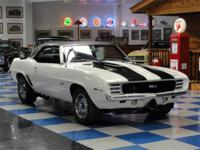 1969 Chevrolet Camaro RS painted in correct Dover White