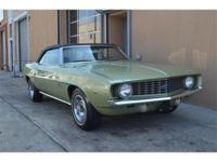 1969 Chevy Camero Convertible. One owner from new. 24k