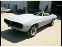 1969 Camaro Convertible project car. Included is a date