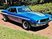 1969 Chevrolet Camaro Coupe Blue  Equipped with a 2nd