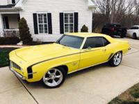 This car is a beauty, Dayton Yellow, 1969 SS Camaro,