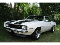 This is a real 1969 Camaro Z-28 hardtop coupe, with the