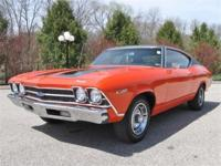 Just in is this very sharp 1969 Hugger orange chevelle