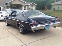 This is a 1969 Super Sport Real Deal Chevelle Black