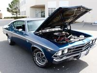 1969 DUSK BLUE, CHEVELLE SS-396 JA CODE -325HP WITH
