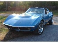 1969 Chevrolet Corvette Stingray T-Top,Real Numbers
