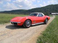 1969 Corvette Convertible. Monza Red (974) exterior