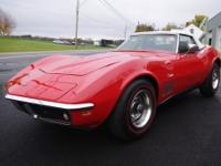 1969 Corvette Convertible Beautiful Monza Red exterior