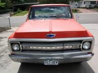 1969 Chevrolet 3/4 ton truck.2WD. Interior is good.