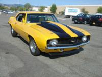 1969 Chevy Camaro California Car with Zero RustThis is