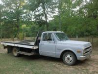 1969 CUSTOM/30 CHEVY FLATBED TRUCK, NEWER 4 BOLT MAIN