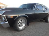 1969 Chevy Nova 396 SS. Gloss black, steel cowl