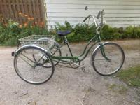 1969 SCHWINN TOWN & COUNRTY TRI WHEELER BICYCLE NEW 24""