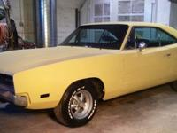 1969 Dodge Charger. Numbers Matching V8 Engine with