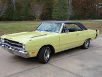 For Sale is my 1969 Dodge Dart GTS. Stock yellow with
