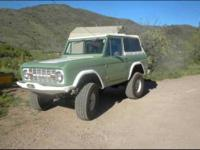 1969 Ford Bronco Classic Truck Custom Built 1969 Ford