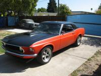 1969 Ford Mustang, 302 motor, c4 transmission. 302