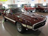 1969 FORD MUSTANG SHELBY GT350 COBRA FASTBACK. SOLD NEW