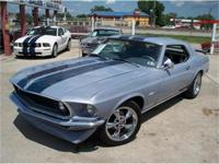 AWESOME GRAY PEARL PAINT ON A 1969 MUSTANG, 302 V-8,