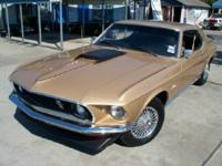 FABULOUS GOLD 1969 MUSTANG, 302 V-8, AUTOMATIC, SUPER