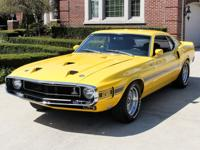 1969 Ford Mustang Fastback  GT 500 Yello Beautiful