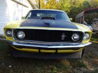 1969 MSTANG FASTBACK MACH 1,this is a running driving
